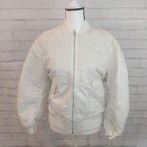 Uniqlo reversible puffer bomber jacket
